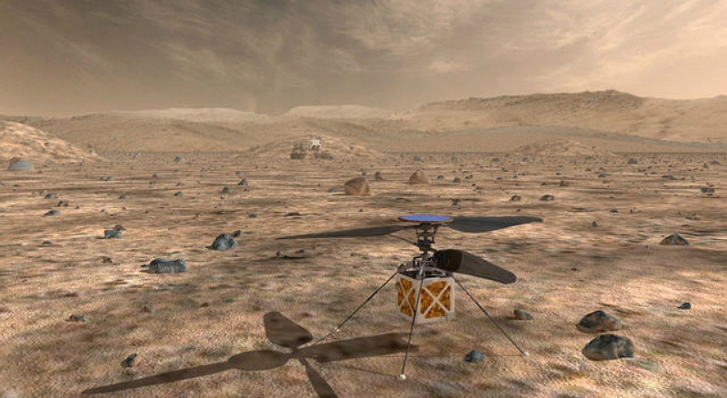 NASA's Mars Helicopter will travel with the agency's Mars 2020 rover to demonstrate the viability and potential of heavier-than-air vehicles